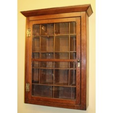 19th c. Victorian Pitch Pine Wall Mounted Message Cabinet