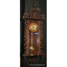 Victorian Walnut Regulator Wall Clock