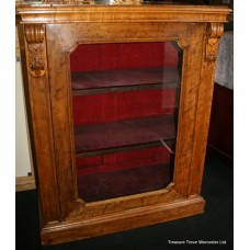 Victorian Satinwood Glazed Pier Cabinet