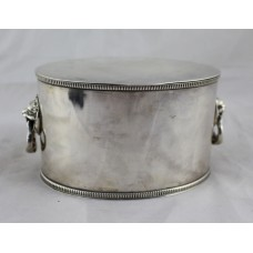 Victorian Silver Plated Two Handled Tea Caddy