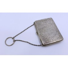 Victorian Silver Card Case By Joseph Gloster Birmingham 1898