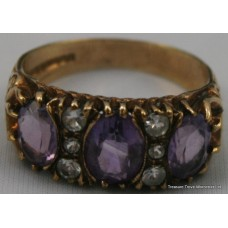 Victorian Style Amethyst 9ct Gold Ring