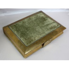 Victorian Brass Bound Velvet Photograph Picture Album