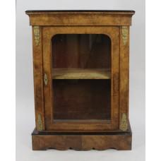 Victorian Walnut Glazed Pier Side Cabinet