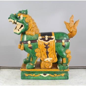 Vintage Ceramic Chinese Foo Dog Guardian Lion