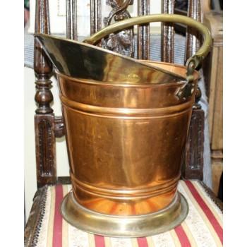 Vintage Copper & Brass Coal Bucket
