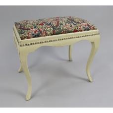 Vintage Cream Painted Dressing Table Stool