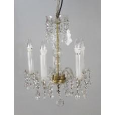 Vintage Crystal Five Light Chandelier