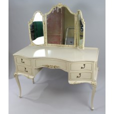 Vintage Olympus Louis XV Style Cream Dressing Table