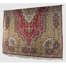 Vintage Persian Hand Knotted Wool Rug 123 x 78 in