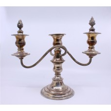 Vintage Sheffield Silver Plated Three Light Candelabra