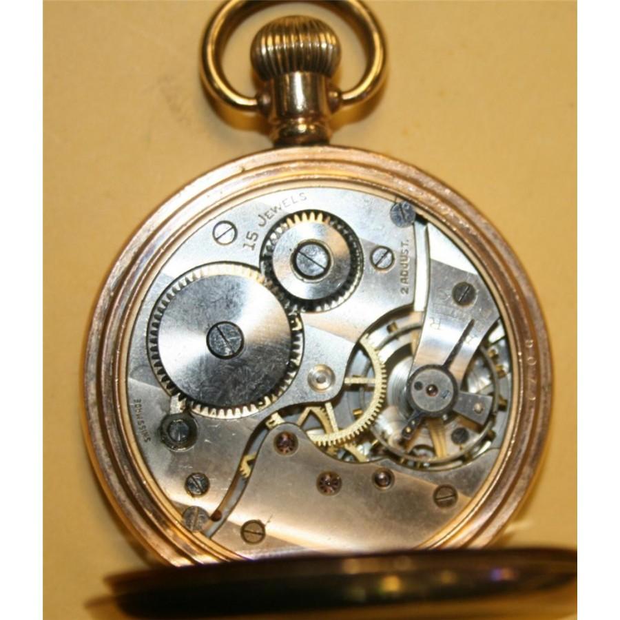 Engraved Fortune Gold Filled Top Winder Pocket Watch