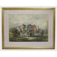 Early 20th c. Watercolour of English Stately Home