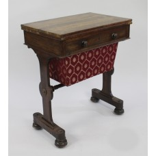 William IV Rosewood Card & Works Table