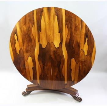Impressive William IV Sabina Wood Centre Table c.1830