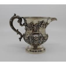 William IV Solid Silver Cream Jug by Barnard London 1834