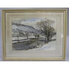 Winter Watercolour by Wilfrid B Tapp (British, 20th c.)