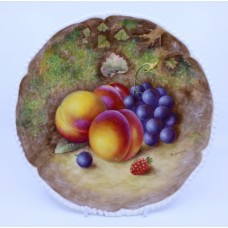 Worcester Fruit Plate Hand Painted by Harry Ayrton