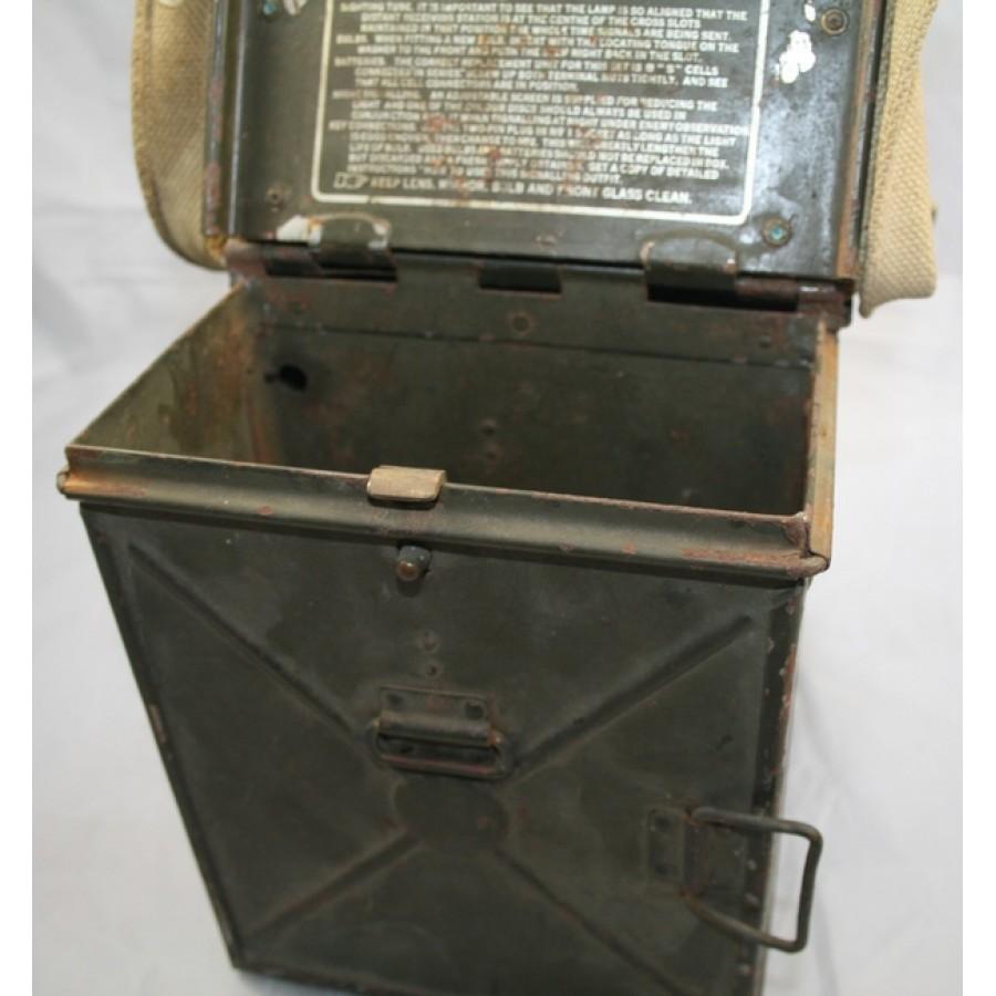 Ww2 British Cased Signal Lamp Amp Morse Code Key Unit