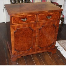 Burr Yew Wood Inlaid Television Cabinet